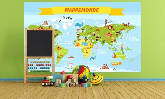 planisphere enfant amazing decoration murale chambre. Black Bedroom Furniture Sets. Home Design Ideas