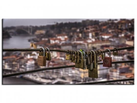 Tableau photo cadenas de l'amour