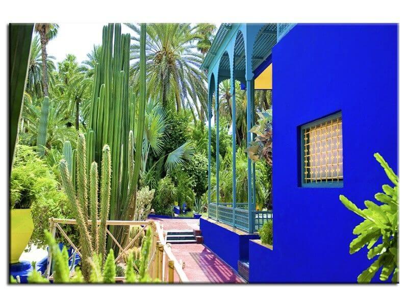 Tableau paysage jardin majorelle marrakech pas cher deco - Jardin majorelle prix d entree ...