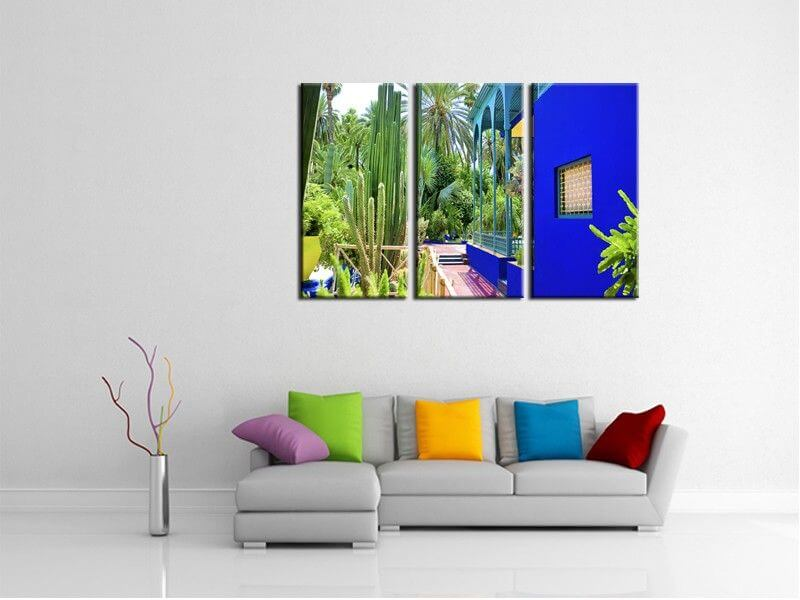 tableau paysage jardin majorelle marrakech pas cher deco murale. Black Bedroom Furniture Sets. Home Design Ideas