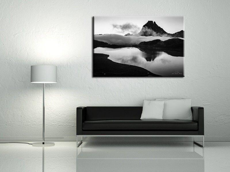 tableau deco pic du midi d 39 ossau en noir et blanc pas cher. Black Bedroom Furniture Sets. Home Design Ideas
