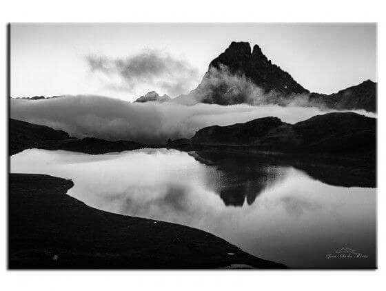 Tableau noir et blanc Pic du Midi d'Ossau