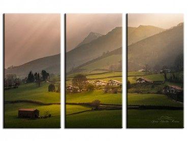 Tableau paysage au cœur du Pays Basque