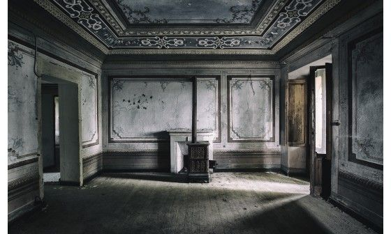 poster mural trompe l 39 il d co urbex villa pas cher hexoa. Black Bedroom Furniture Sets. Home Design Ideas