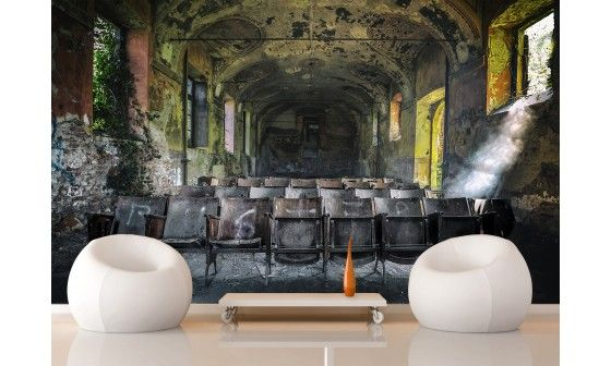 trompe l 39 il mural style urbex th tre italien d co hexoa. Black Bedroom Furniture Sets. Home Design Ideas
