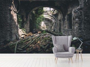 Papier peint moderne urbex vestiges d'une villa