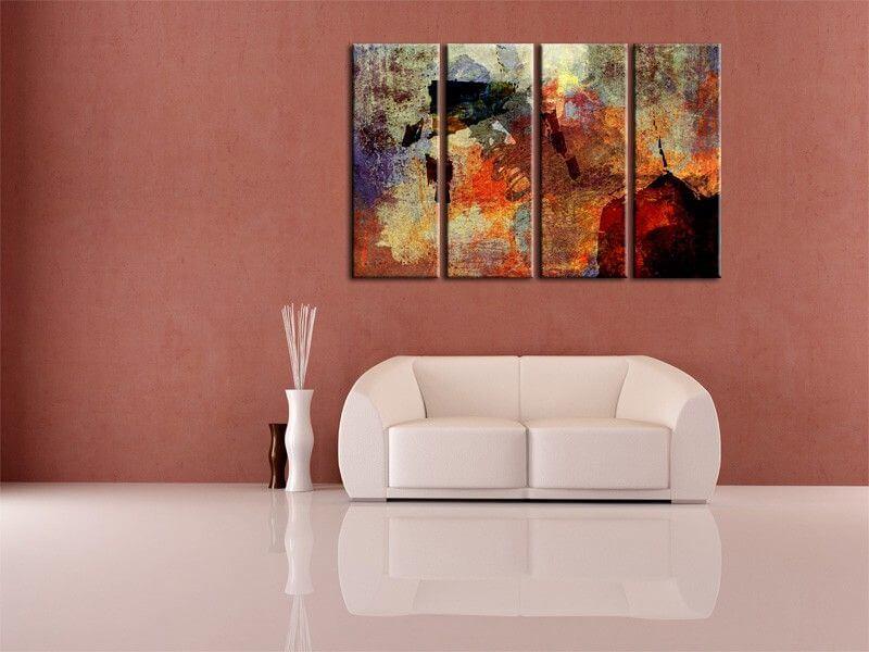 tableau deco abstrait moderne fall pas cher tableaux hexoa. Black Bedroom Furniture Sets. Home Design Ideas