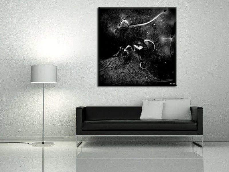 tableau moderne abstrait noir et blanc exploration pas cher. Black Bedroom Furniture Sets. Home Design Ideas