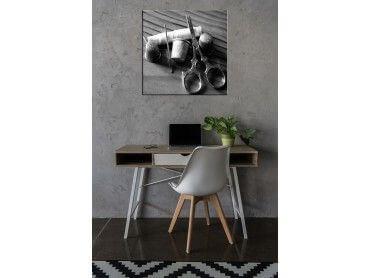 Tableau noir et blanc couture