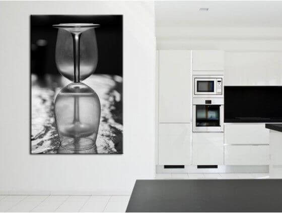 tableau d coration cuisine verre de vin en toile alu ou plexi. Black Bedroom Furniture Sets. Home Design Ideas