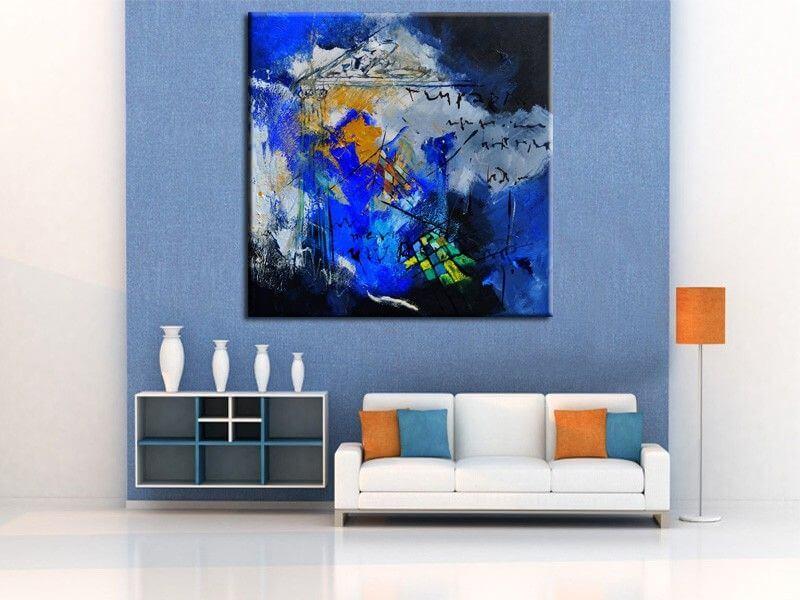 tableau abstrait moderne pas cher reproduction peinture. Black Bedroom Furniture Sets. Home Design Ideas