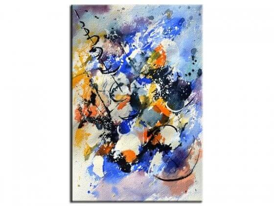 Tableau abstrait peinture aquarelle