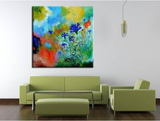 tableau peinture fleurs en toile imprim e alu et plexiglas. Black Bedroom Furniture Sets. Home Design Ideas