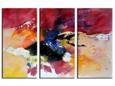 Tableau peint déco abstraite aquarelle