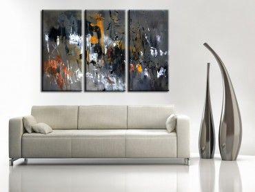 Tableau peinture abstraite mouvements