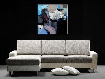 tableau abstrait d coration moderne art abstrait hexoa. Black Bedroom Furniture Sets. Home Design Ideas