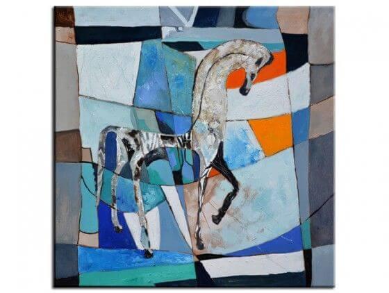 Tableau abstrait cheval Grec ancien