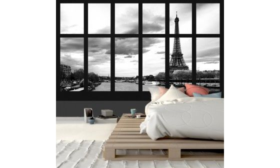 poster mural vue sur paris en vente prix bas sur hexoa. Black Bedroom Furniture Sets. Home Design Ideas