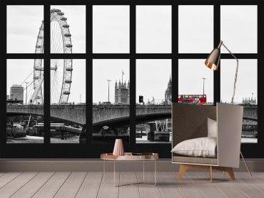 Papier peint déco vue sur Londres