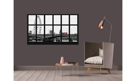 poster xxl vue sur londres en noir et blanc pas cher hexoa. Black Bedroom Furniture Sets. Home Design Ideas