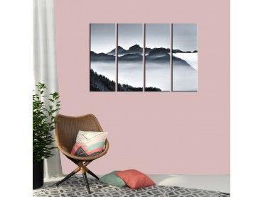 Tableau paysage de montagne calme et zen