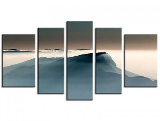 Tableau paysage montagne voile alpin