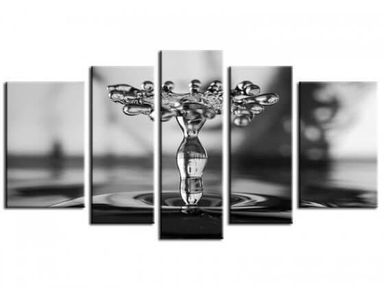 Tableau abstrait liquid drop art Tuvia