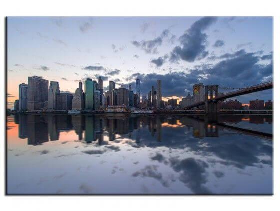 Tableau deco New York Manhattan Sunset
