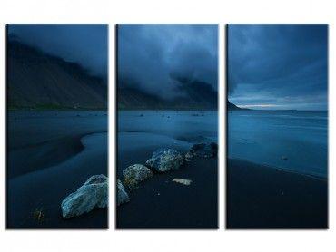 Tableau photo paysage plage sable noir Islande