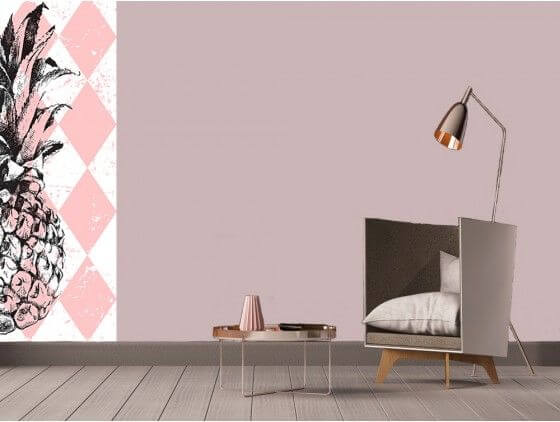 papier peint ananas motif g om trique prix r duit sur hexoa. Black Bedroom Furniture Sets. Home Design Ideas