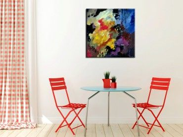 Tableau peinture abstraite évanescent