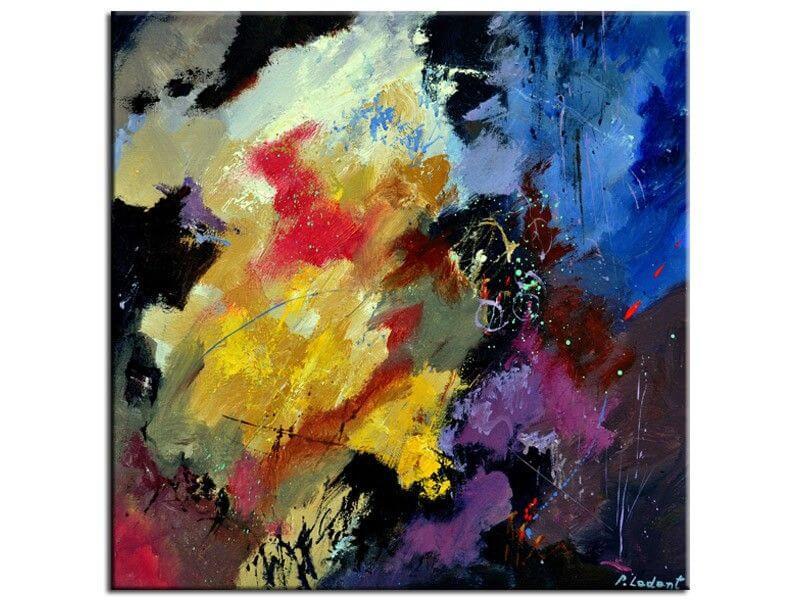 Tableau art abstrait reproduction peinture sur toile, alu ...