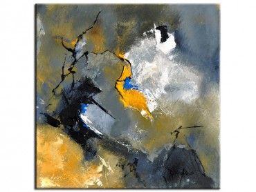 Tableau art abstrait nuances de gris