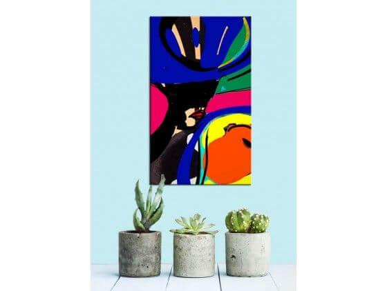 tableau moderne color grace uvre d 39 art unique. Black Bedroom Furniture Sets. Home Design Ideas
