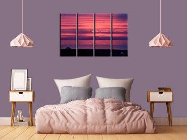 Tableau paysage coucher de soleil Corse