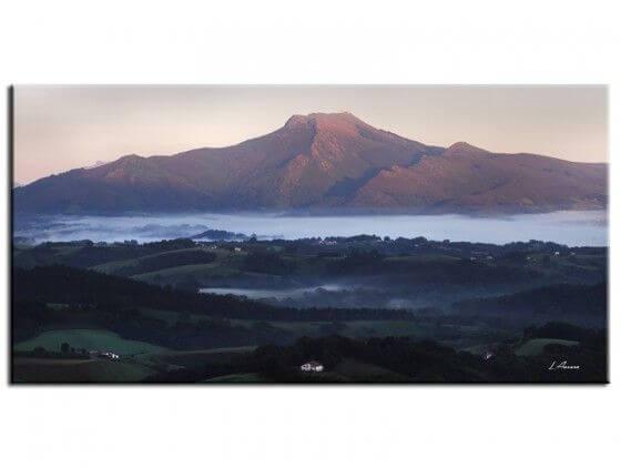 Tableau photo paysage la Rhune