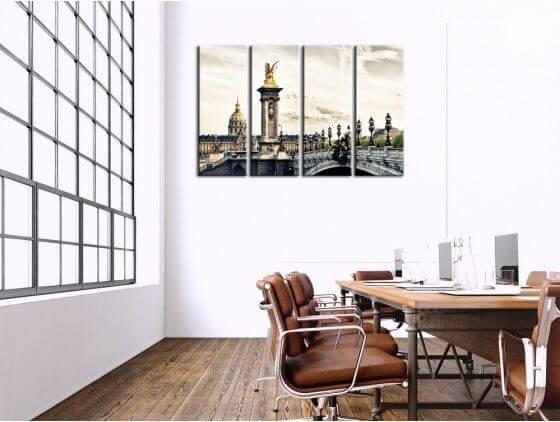 Tableau photo de Paris pont Alexandre III