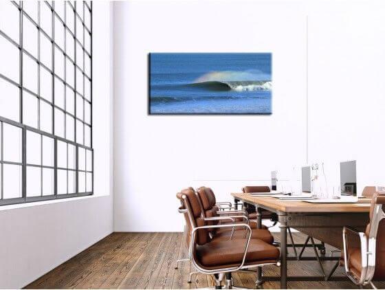 Tableau surf vague landaise
