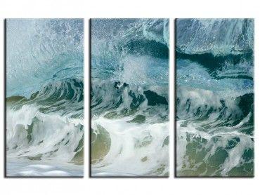Tableau deco surf zoom sur le shore break