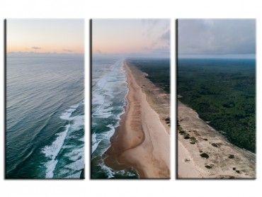 Tableau photo déco les landes vue du ciel