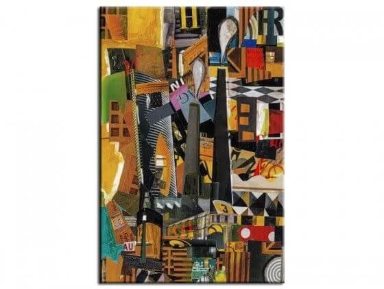 Tableau abstrait urbain cityscape