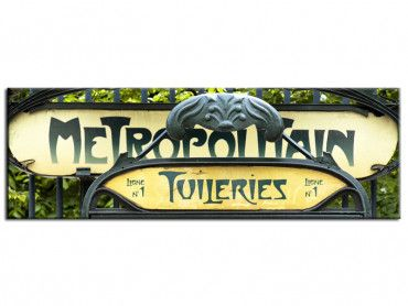 Tableau deco Paris Tuileries Metropolitain