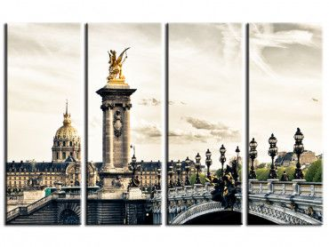 Tableau photo de Paris pont Alexandre III