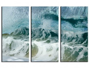 Tableau deco surf zoom sur le shore break