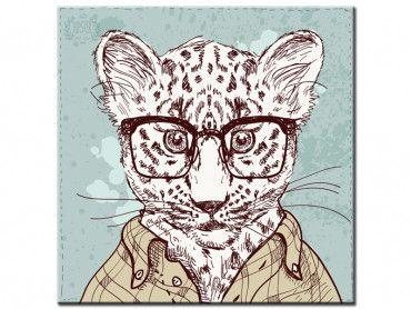 Tableau léopard à lunettes inspecteur