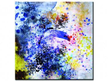 Tableau abstrait toucan big bang