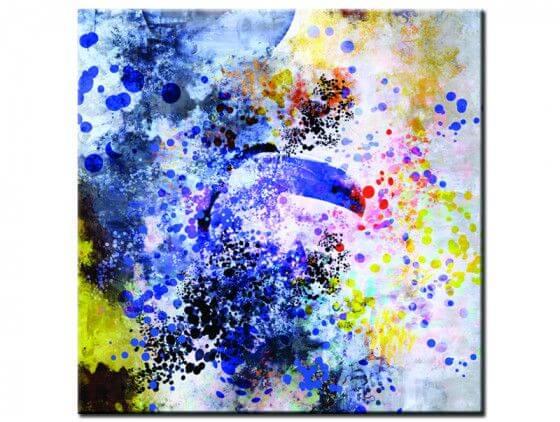 Tableau abstrait toucan big bang