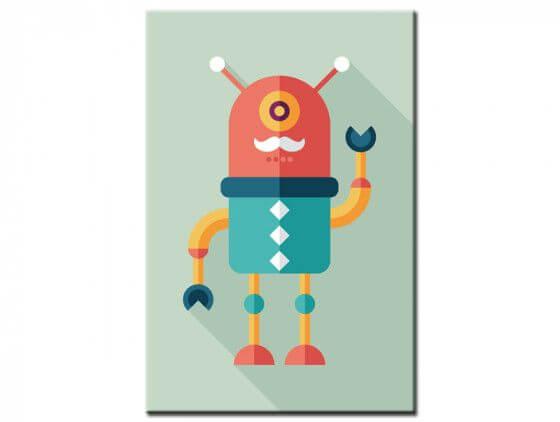 Tableau robot moustachu