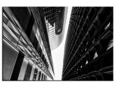 Tableau noir et blanc design buildings