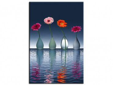 Tableau fleurs déco vases jolies fleurs